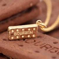 Personalised Gold Plated Bourbon Biscuit Necklace