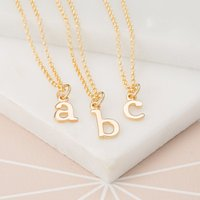 Personalised Gold Plated Initial Charm Necklace