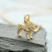 Personalised Gold Plated Lion Necklace