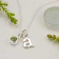 Personalised August Birthstone Necklace (peridot)