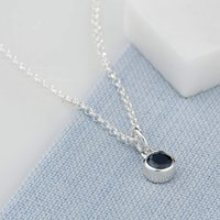 Personalised September Birthstone Necklace (Sapphire) - Birthstone Gifts