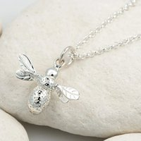 Personalised Silver Bee Necklace