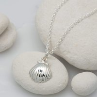 Personalised Silver Clam Shell Necklace