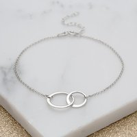 Personalised Silver Linked Circles Bracelet - Bracelet Gifts