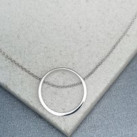 Personalised Silver Open Circle Necklace - Lily Charmed Gifts