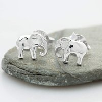 Silver Elephant Stud Earrings - Lily Charmed Gifts