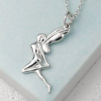 Personalised Silver Fairy Necklace
