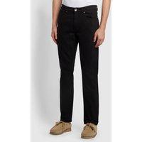 Farah Elm Regular Fit Black Stretch Jeans In Black