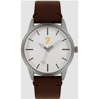 Farah Farah Classic Watch With Leather Strap In Brown