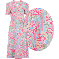 """""""Cora"""" Full Wrap Dress in Pacific Garden Print, Perfect 1950s Style"""