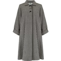 Swing Coat in Hounds tooth check, Vintage 1940s Cape Style Inspired Over Coat