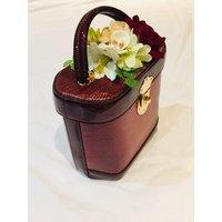 Classic Vintage Style Charlotte Handbag In Classic Wine