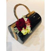 Classic Vintage Inspired Emma Barrel Bag In Olive