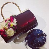 Vintage Style Emma Barrel Hand Bag In Wine