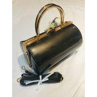 Classic Vintage Inspired Emma Barrel Bag In Stone