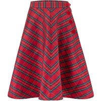 """""""Isabelle"""" Skirt in Red Taffeta Tartan, Classic and Authentic 1940s Vintage Inspired Style"""
