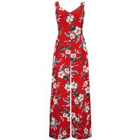 """The """"Lana"""" Jump Suit in Red Hawaiian Print, Perfect 1950s Vintage Style"""