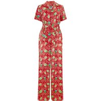 """""""Lauren"""" Siren Jump Suit in Slipper Atomic Satin Print by The Seamstress of Bloomsbury, Classic 1940s Vintage Style"""