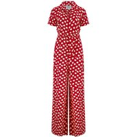 """""""Lauren"""" Siren Jump Suit in Red Moonshine Spot by The Seamstress of Bloomsbury, Classic 1940s Vintage Style"""