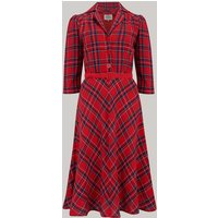 """""""Lisa"""" shirt Dress in  Red Check, Authentic 1940s Vintage Style"""