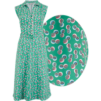 """""""Margot"""" Dress in Green Abstract Polka Print, Perfect 1950s Style"""
