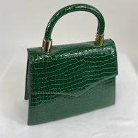 Classic Vintage Penny  Handbag In Vintage Green