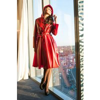 "**UK Hand Made To Order** Classic 1940s Style ""Romantica Full Skirted Rain Mac"" in Red"