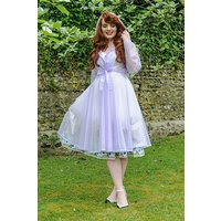 "**UK Hand Made To Order** Classic 1940s Style ""Romantica Full Skirted Rain Mac"" Violet Semi-Trans"