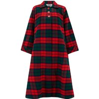 Swing Coat in Tradition Red and Green Tartan check, Vintage 1940s Cape Style Inspired Over Coat