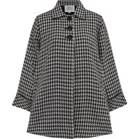 Swing Jacket in Houndstooth, Vintage 1940s Cape Style Inspired Over Coat