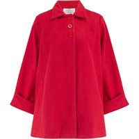 Vintage 1940s Cape Style Inspired Over Coat In Red
