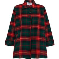 Swing Jacket in Green and Red Check , Vintage 1940s Cape Style Inspired Over Coat