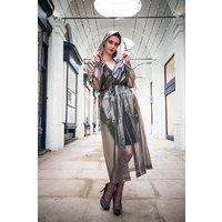 "1950s Style  ""Classic Fashion Rain Mac"" True Vintage Style In Black Semi Transparent"