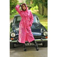 """1950s Style  """"Classic Fashion Rain Mac"""" True Vintage Style In Magenta Pink"""