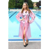 """1950s Style  """"Classic Fashion Rain Mac"""" True Vintage Style In Pink Pearl"""