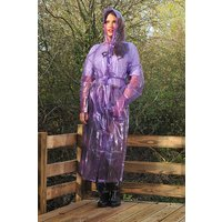 """1950s Style  """"Classic Fashion Rain Mac"""" True Vintage Style In Violet Glass Clear"""