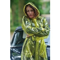 """1950s Style  """"Classic Fashion Rain Mac"""" True Vintage Style In Yellow Glass Clear"""