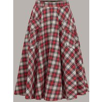 """The 1940s Vintage Inspired """"Thelma"""" Skirt with Pockets in Tartan by The Seamstress of Bloomsbury"""