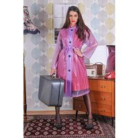 "Late 1950s and 60s Style ""Retro Coat Rain Mac"" in Lilac Semi Transpatent by Elements Rainwear"