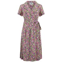 """""""Peggy"""" Wrap Dress in Lilac Floral, Authentic 1940s Vintage Inspired Style"""