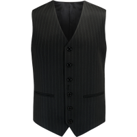Mens Waistcoat in Black Pinstripe, 1940s Vintage Style by The Seamstress of Bloomsbury