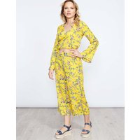Jaione - Yellow Flared Top & Culotte Set Yellow