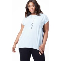 SOFIA - Curve Necklace Detail Oversized Top - 22/24 / BLUE