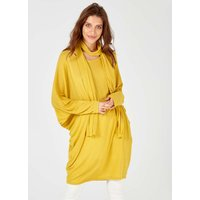 Anamika - Oversized Mustard Top With Scarf - One Size / Mustard