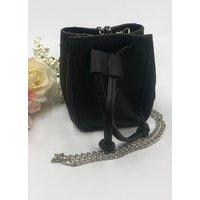 Black Pouch Micro Mini Bag - Fabia