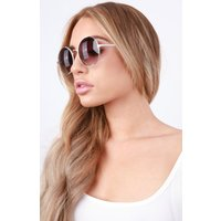 Black Round Thin Frame Sunglasses - Juliet