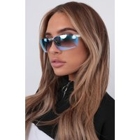 Blue Mirrored Cycling Retro Sunglasses - Sarai