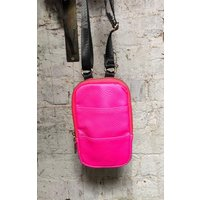 Neon Pink Crossbody Mini Pouch Bag - Lizie