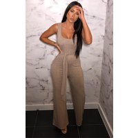 Stone Ribbed Culotte Jumpsuit - Catalyn