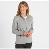 TOG24 Charlton Womens Knitlook Fleece Jacket - Light Grey Marl